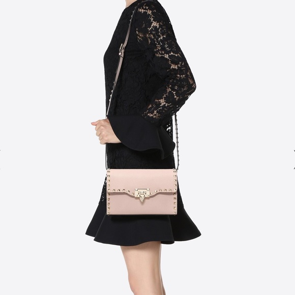 a4b707e3df Valentino Garavani Bags | Small Grain Calfskin Leather Rockstud ...